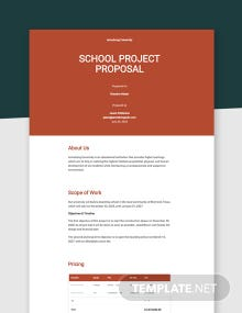 School Project Proposal Template