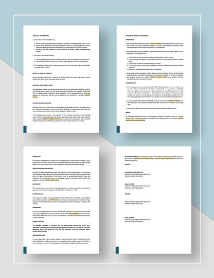 Teacher Contract Download