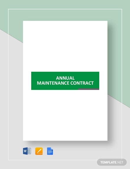Annual Maintenance Contract Template