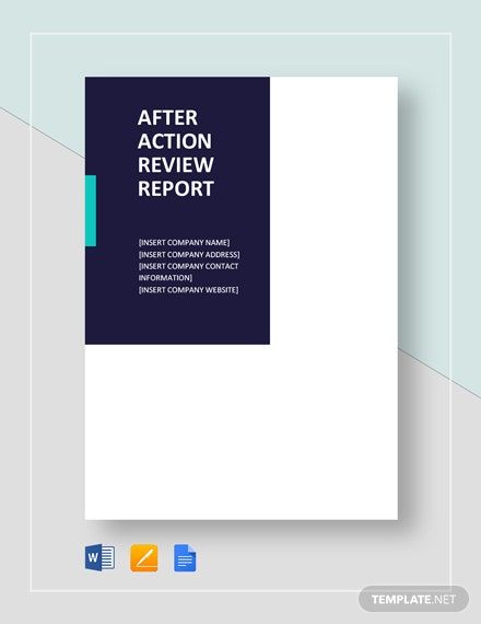 after action review report