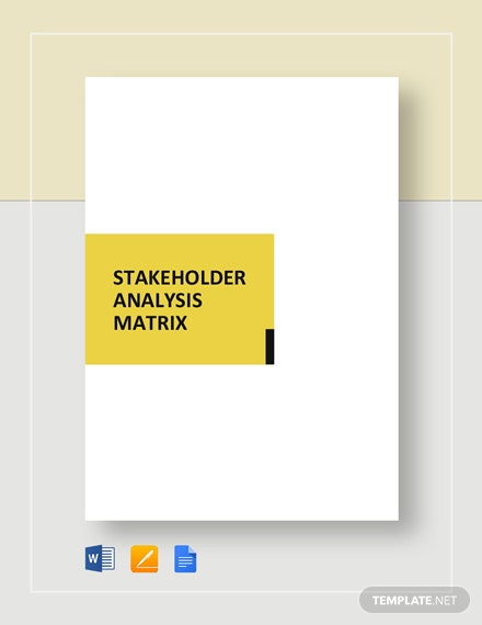 Stakeholder Analysis Matrix Template