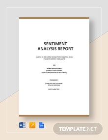 Sentiment Analysis Template