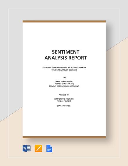 Sentiment Analysis Template