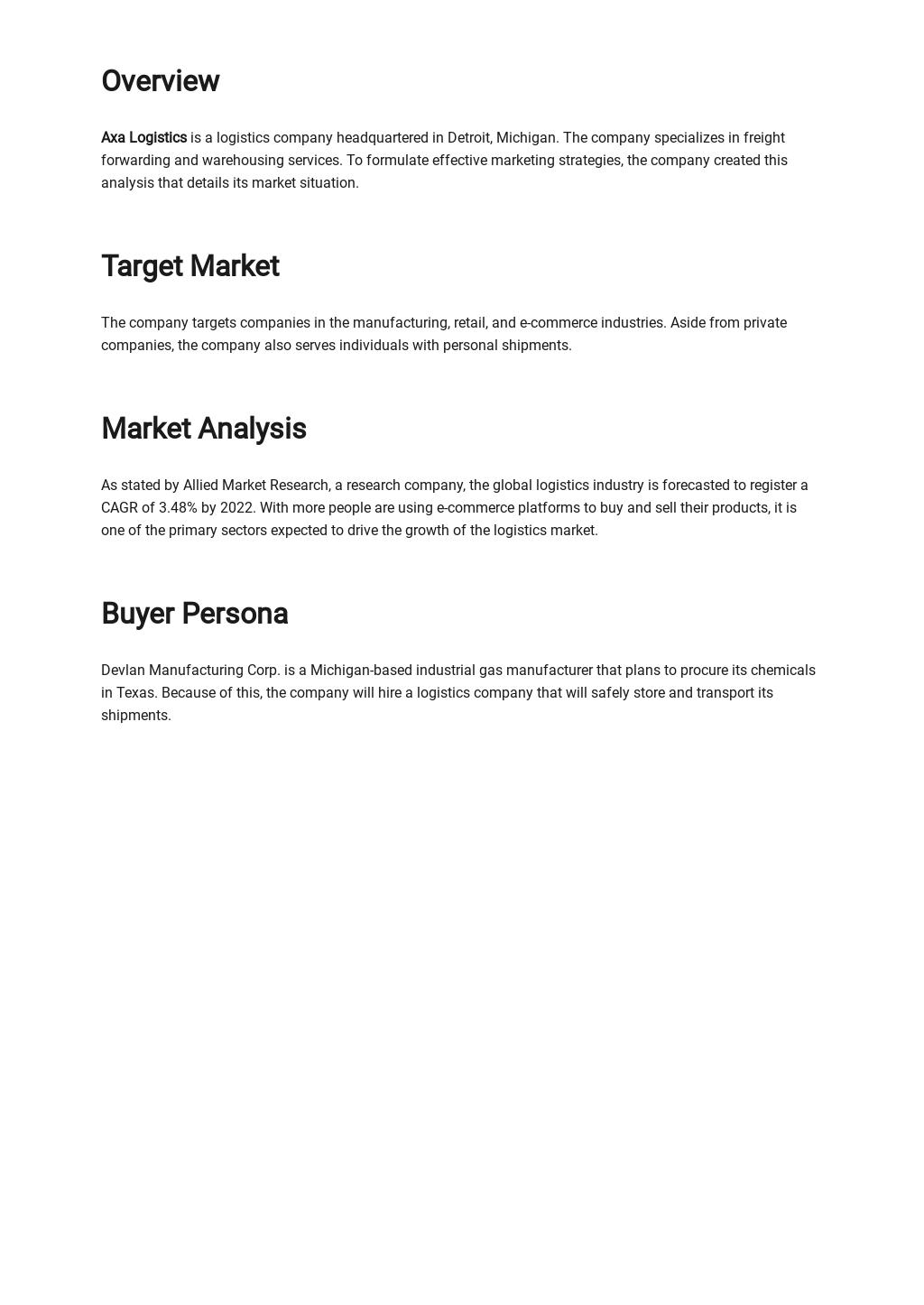 Sample Marketing Situation Analysis Template 1.jpe