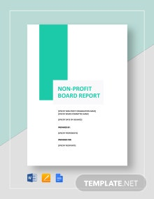 Non Profit Board Report Template