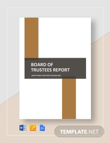 Board of Trustees Report Template