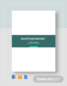 Exception Report Template