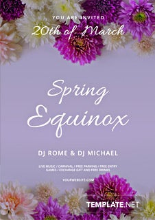Free Spring Equinox Flyer Template