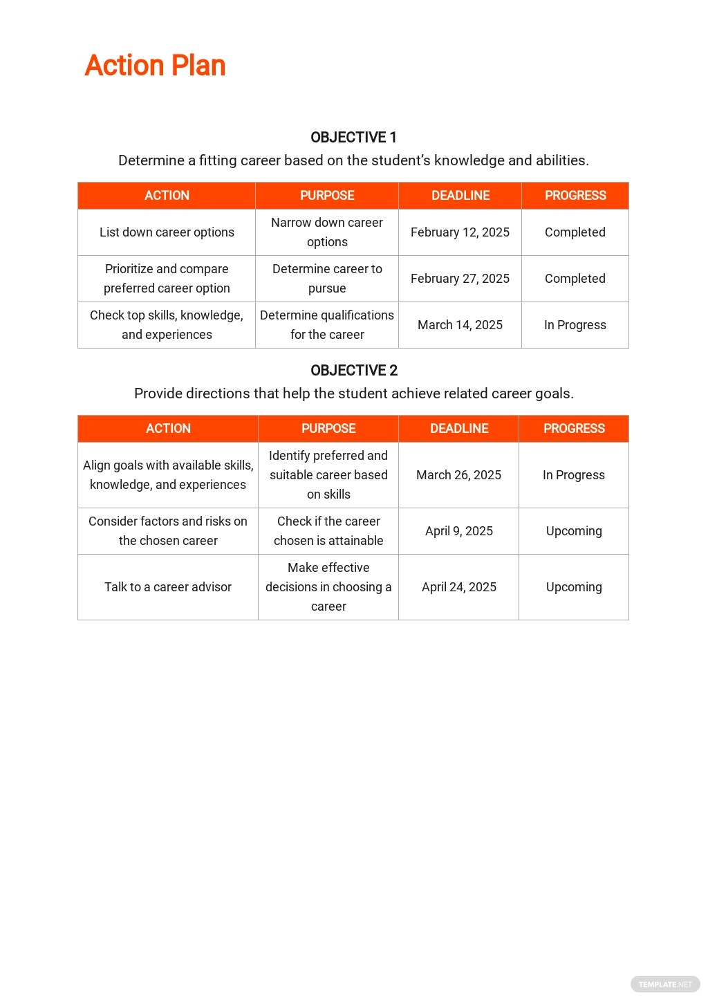 Career Action Plan Template 2.jpe