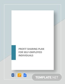 Profit Sharing Plan for Self-Employed Individual Template