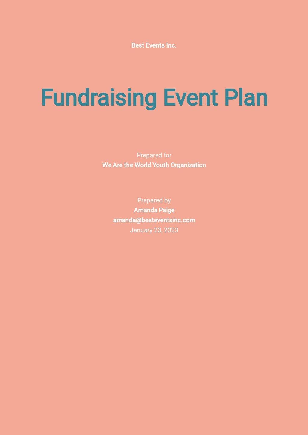 Non Profit Fundraising Plan Template.jpe
