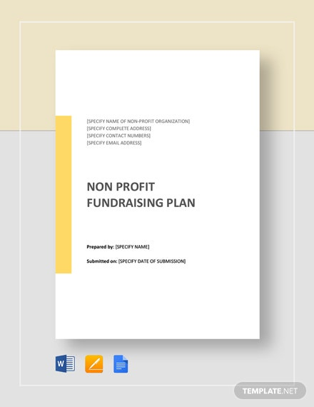 Non Profit Fundraising Plan Template