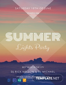 Free Summer Lights Flyer Template