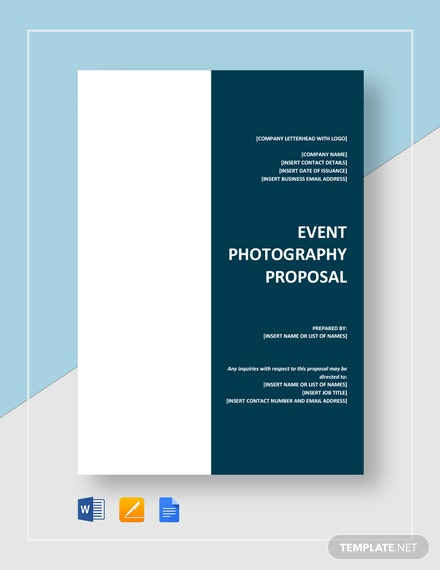Event Photography Proposal Template