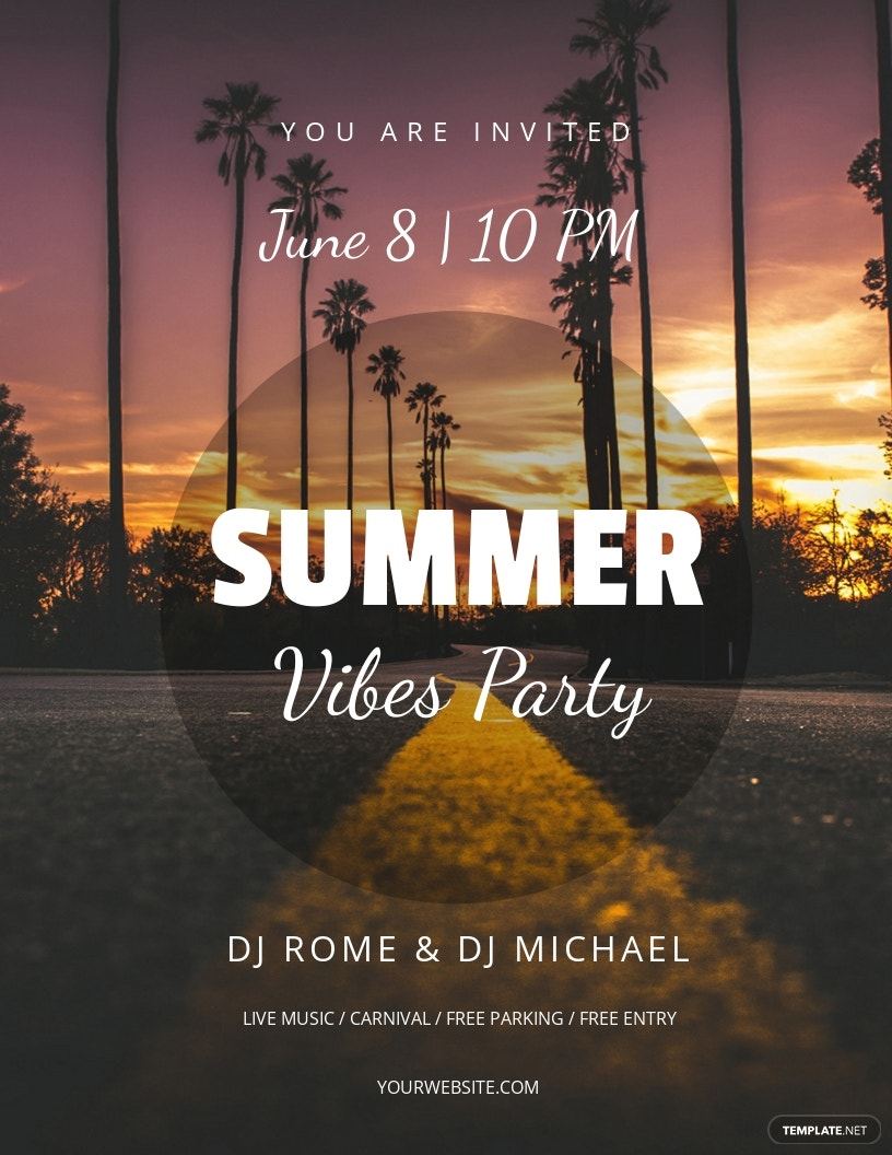 Summer Vibes Flyer Template