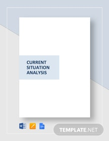 Current Situation Analysis Template