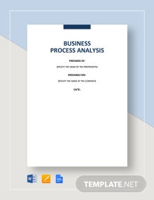 Business Process Analysis Template
