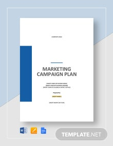 Marketing Campaign Plan Template