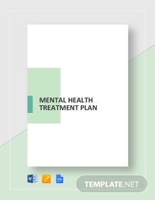Mental Health Treatment Plan Template
