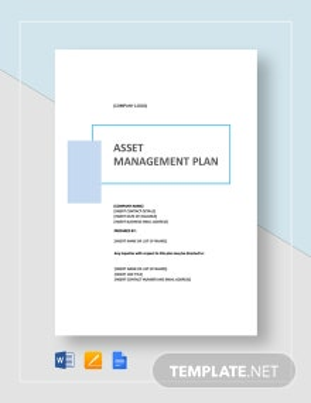 Simple Asset Management Plan Template