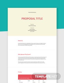 Corporate Sponsorship Proposal Template