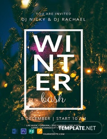 Free Winter Bash Flyer Template