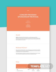 Program Sponsorship Proposal Template