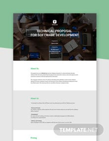 Technical Proposal for Software Development Template