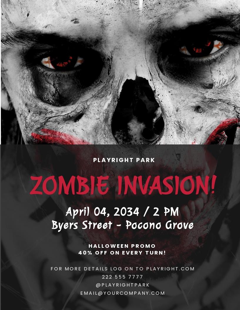 Free Zombie Invasion Halloween Flyer Template.jpe