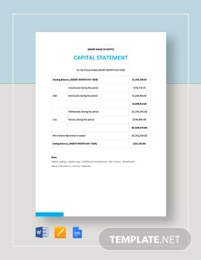 Capital Statement Template