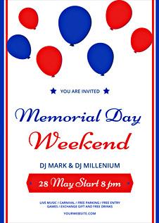 Free Memorial Day Weekend Flyer Template