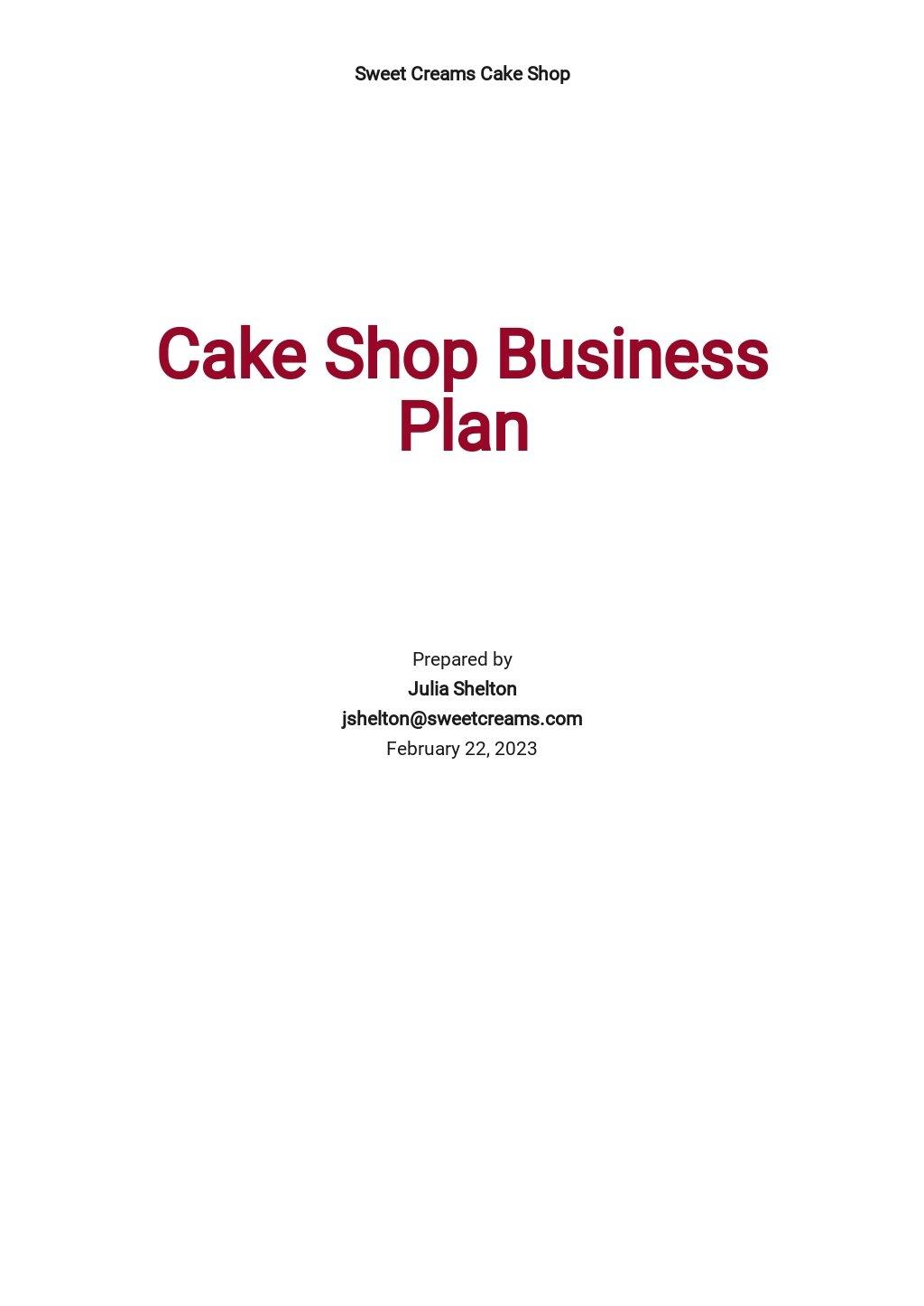 Cake Shop Business Plan Template.jpe