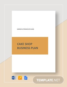 Cake Shop Business Plan Template