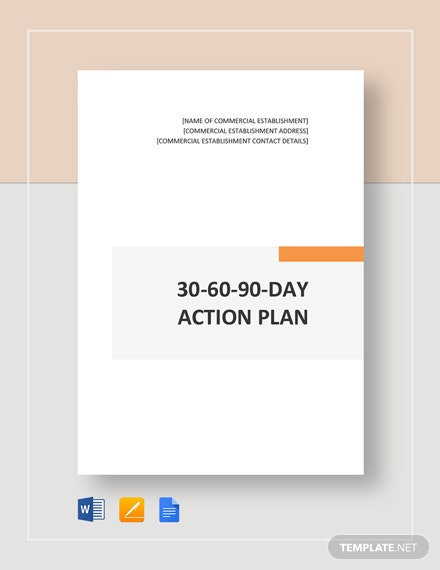 30-60-90-day Action Plan Template