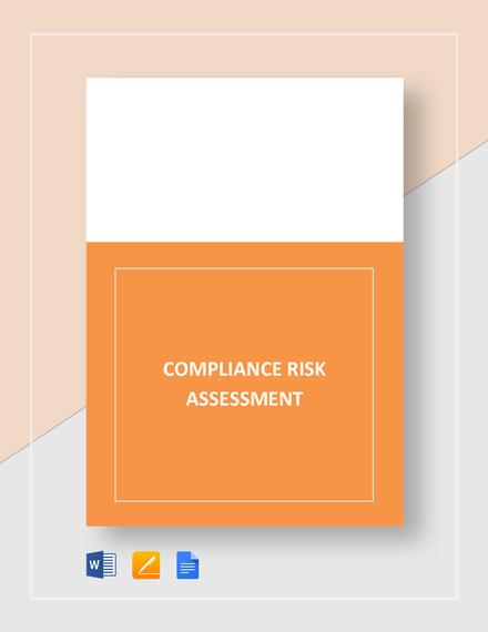 Compliance Risk Assessment Template