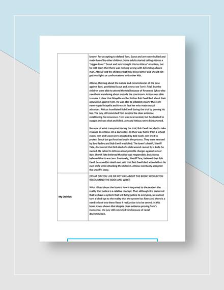 Book Report Download