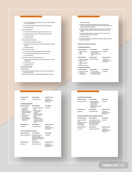 Human Resources Development Plan Download