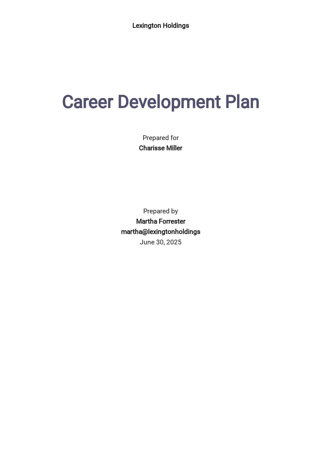 Human Resources Development Plan Template
