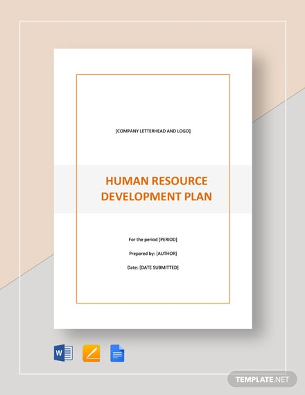 Human Resources Development Plan Template
