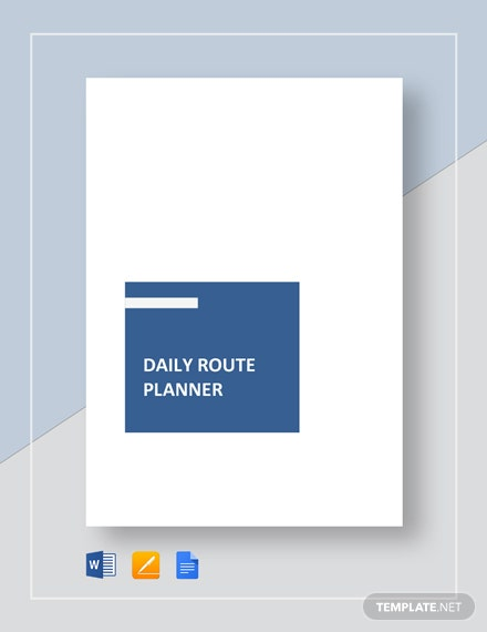 Daily Route Planner Template
