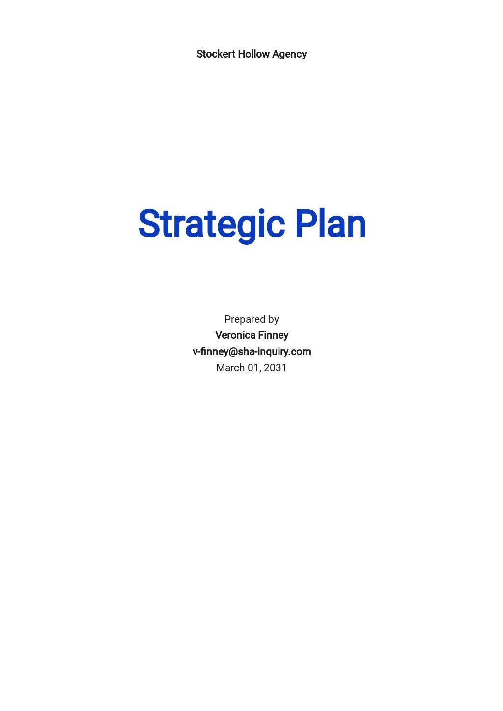 HR Strategic Plan Template