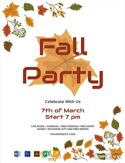 Free Rustic Fall Flyer Template