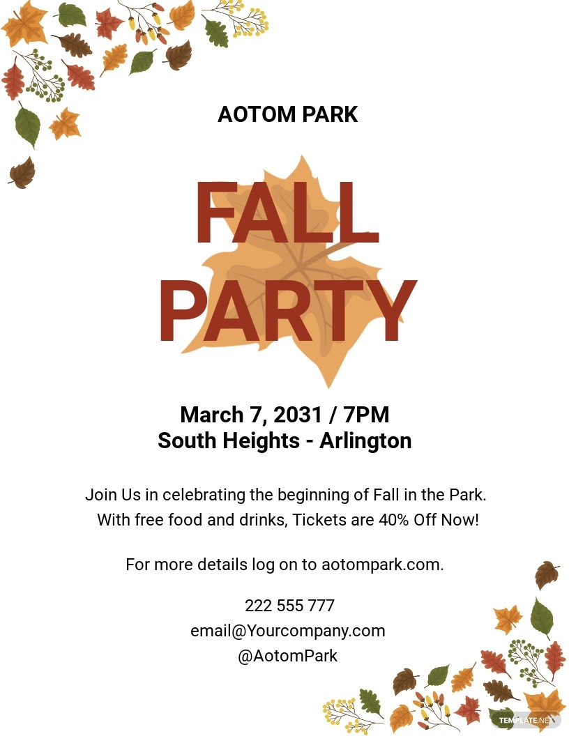 Rustic Fall Flyer Template