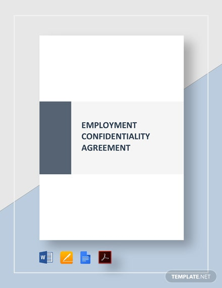 Employment Confidentiality Agreement Template