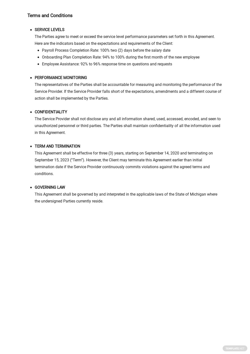 HR Service Level Agreement Template 2.jpe