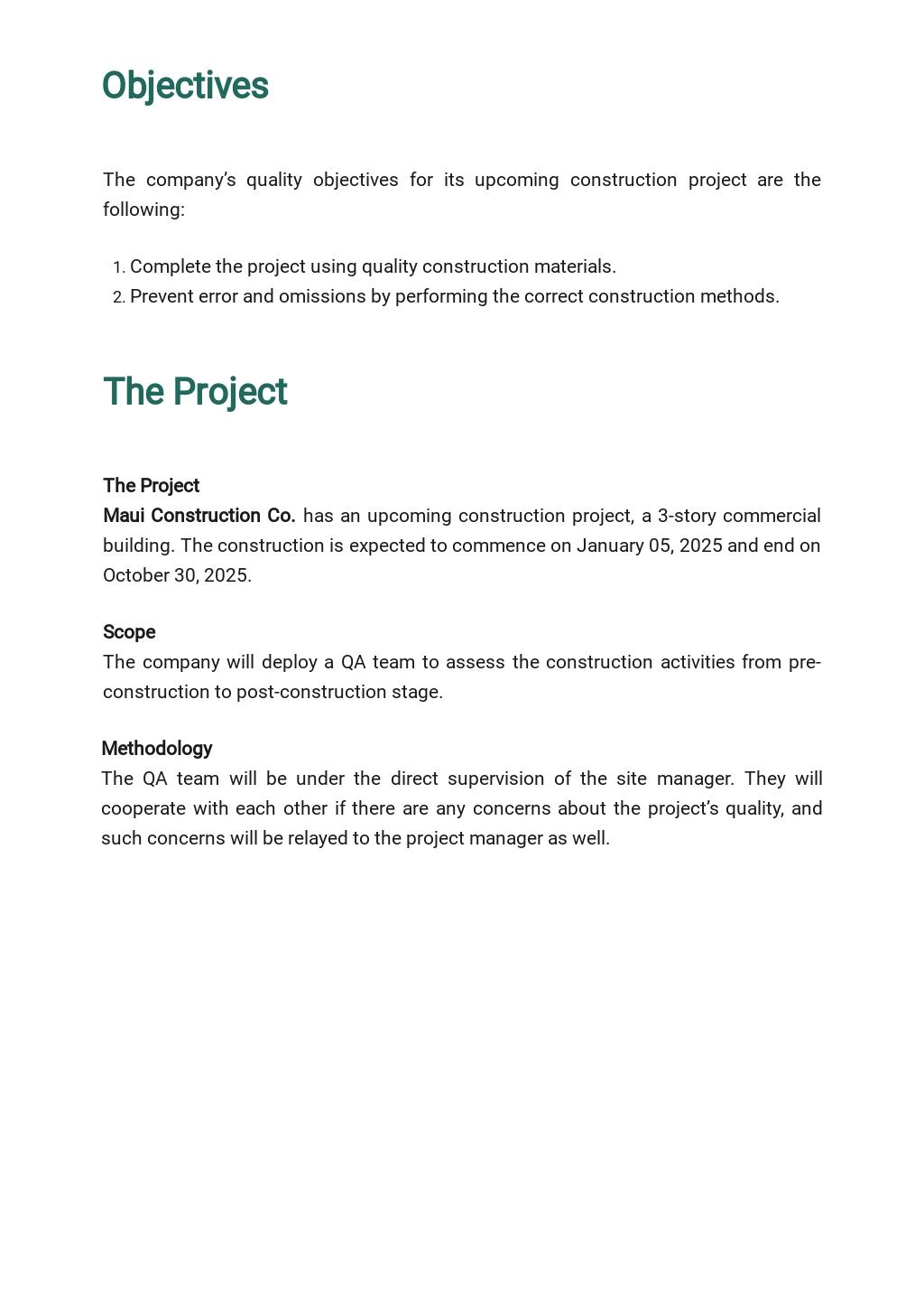 Project Quality Assurance Plan Template 1.jpe