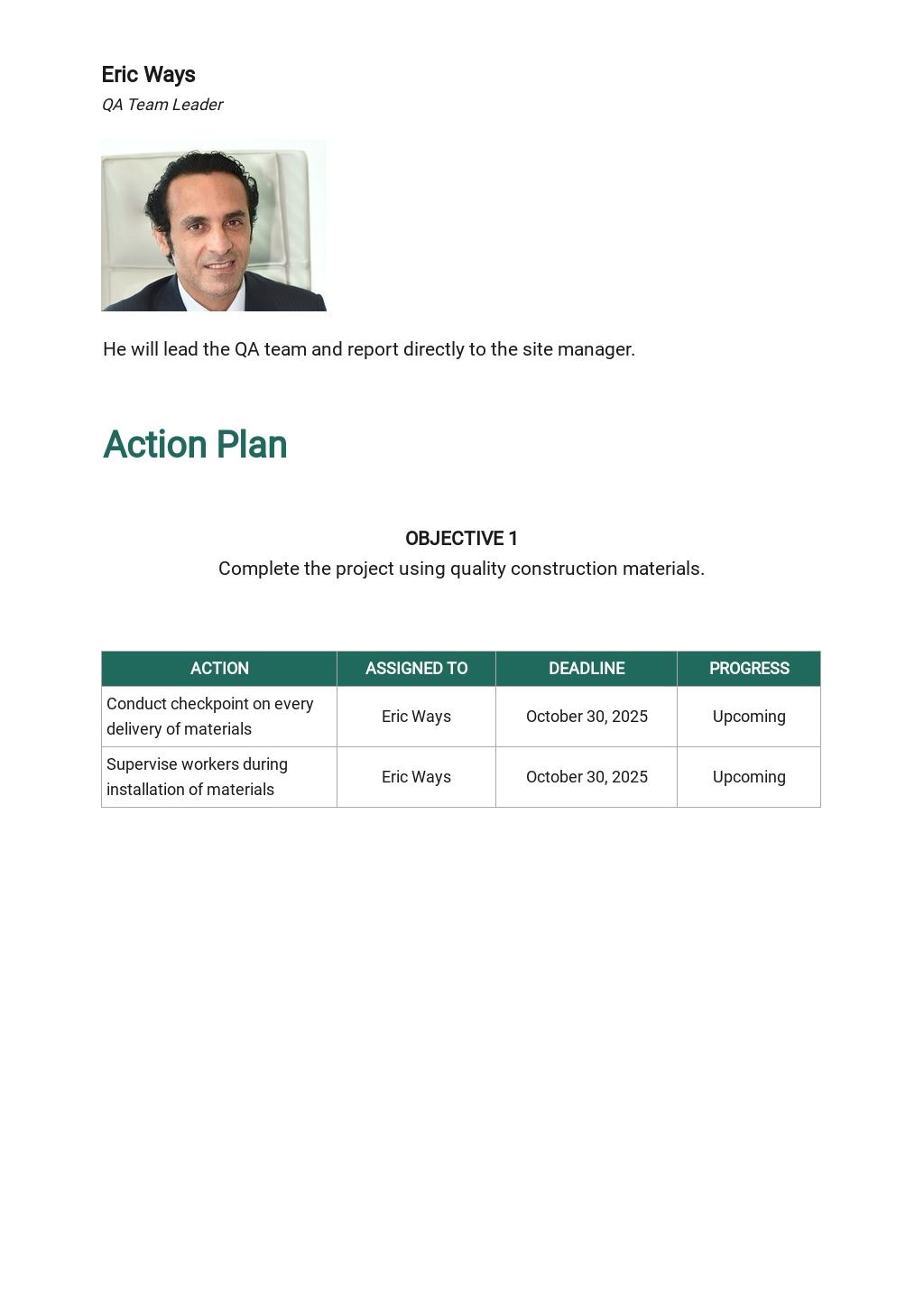 Project Quality Assurance Plan Template 3.jpe