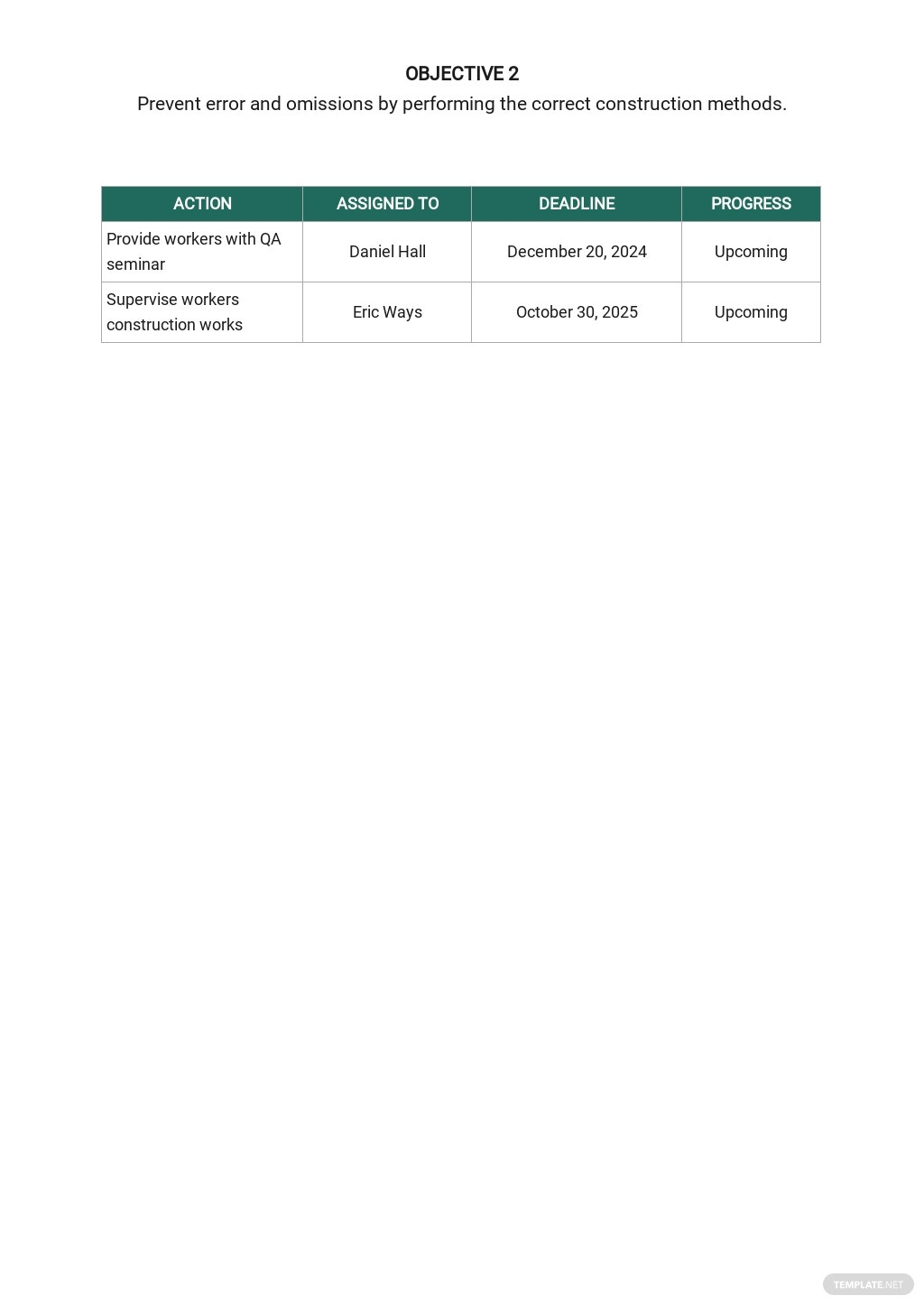 Project Quality Assurance Plan Template 4.jpe