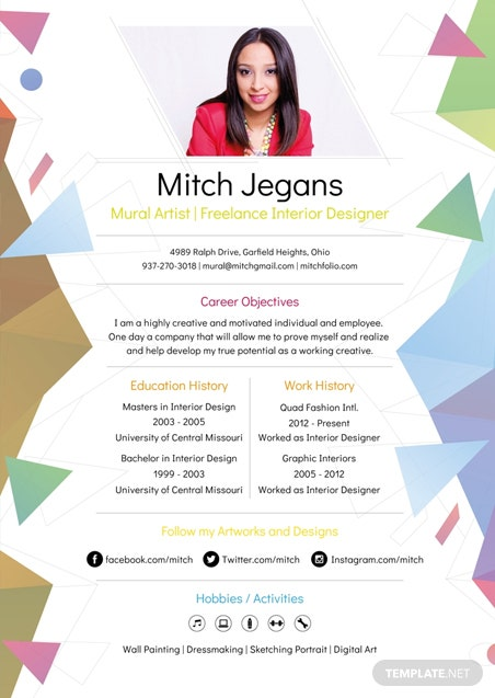 free professional resume and cv template in psd  ms word