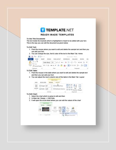 billing invoice Instructions